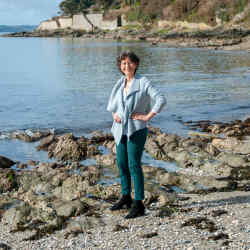 Olga Polizzi on the seafront at St Mawes
