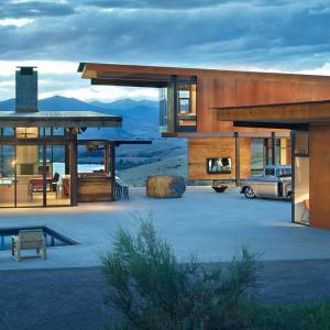 Studhorse in the Methow Valley near Winthrop, Washington, by Olson Kundig