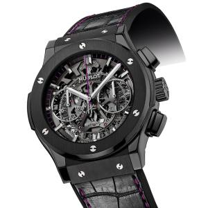 Hublot ceramic Womanity watch with alligator strap, from €7,000. For each one sold, €1,000 will be donated to The Womanity Foundation (www.womanity.org). www.hublot.com