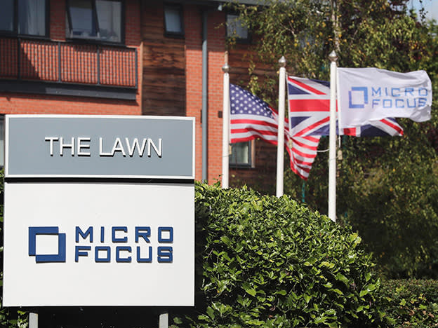 Micro Focus plummets on sales warning