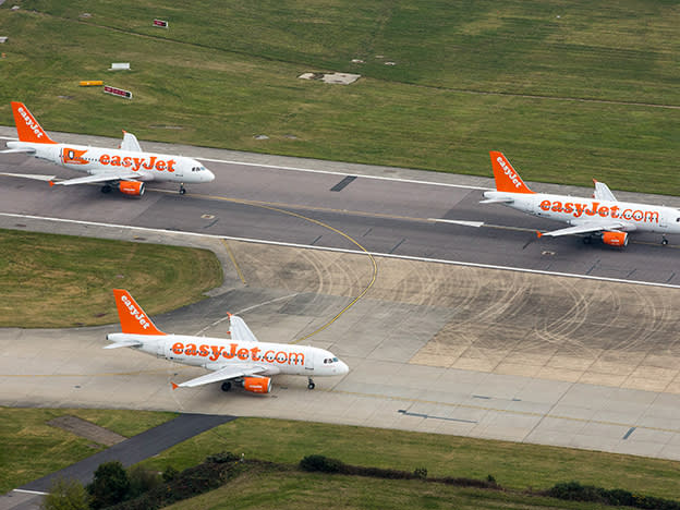 easyJet lands first annual loss