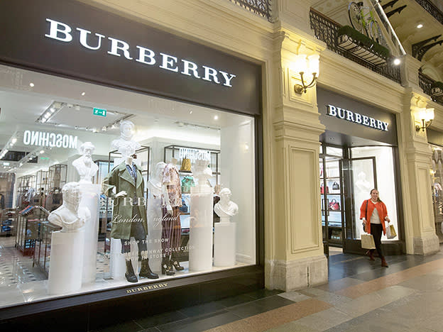 Burberry laments the absence of travelling custom