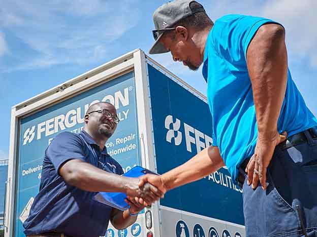 US trading boost for Ferguson