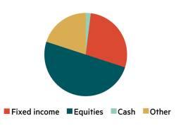 IC model asset allocation – £1m plus