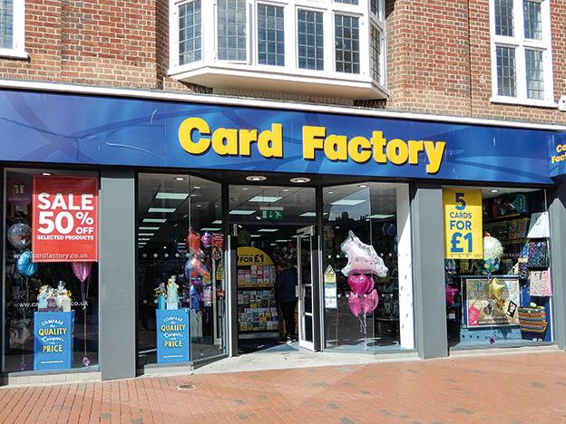 Card Factory closes shops and folds dividend