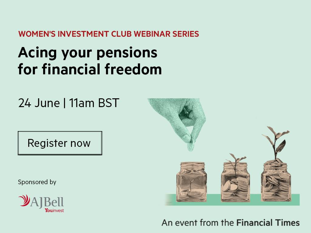 Women's Investment Club Webinar: Acing your pensions for financial freedom