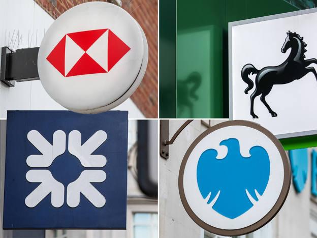 UK banks' targets on the slide