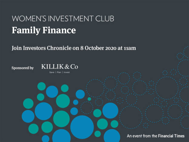 Women's Investing Club: Family Finance 8 October 2020