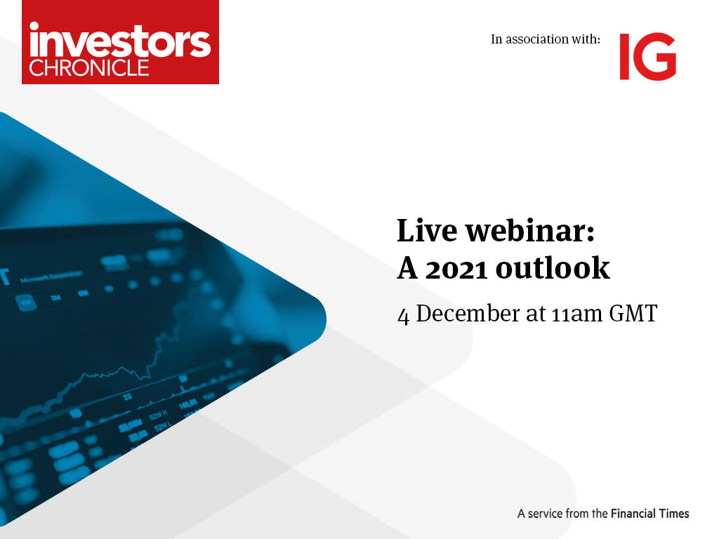 Upcoming live webinar: A 2021 Outlook 4 December