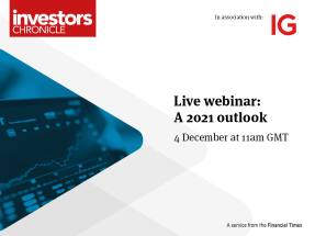 Upcoming live webinar: A 2021 Outlook 4 December