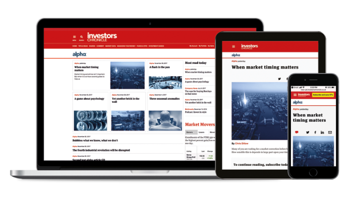 Subscribe to Investors Chronicle digital + alpha today