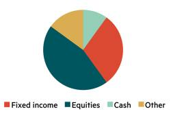 IC model asset allocation – £5k to £50k
