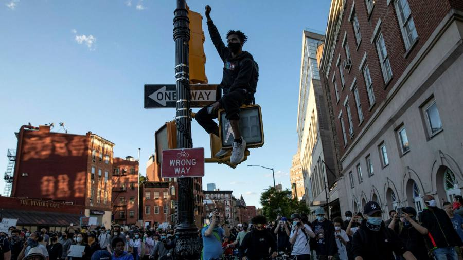 US reels from protests and clashes with police