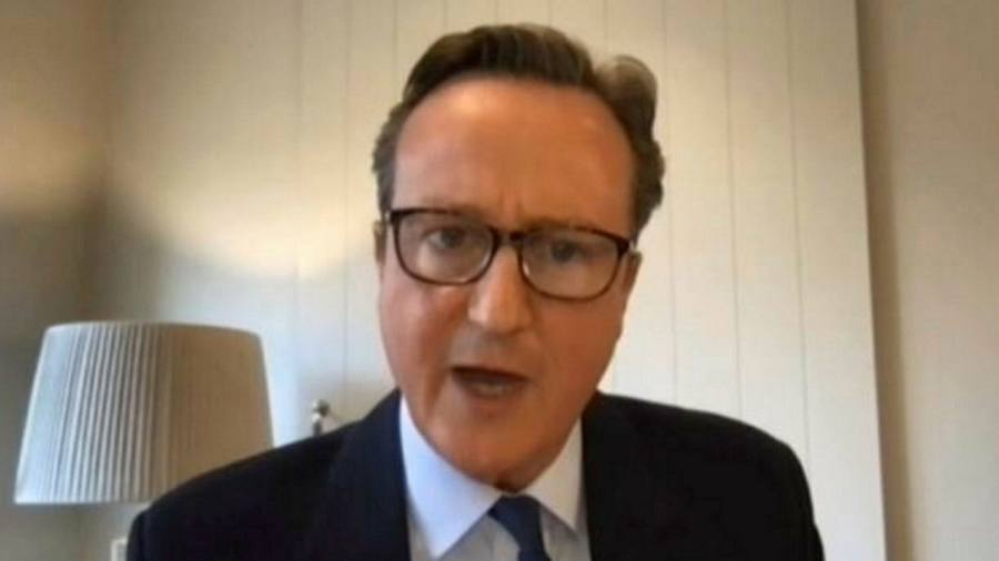 Cameron defends the lobby against ministers for Greensill Capital
