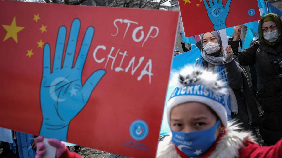 """The U.S. human rights report says China is """"treating"""" the genocide against Uyghurs."""