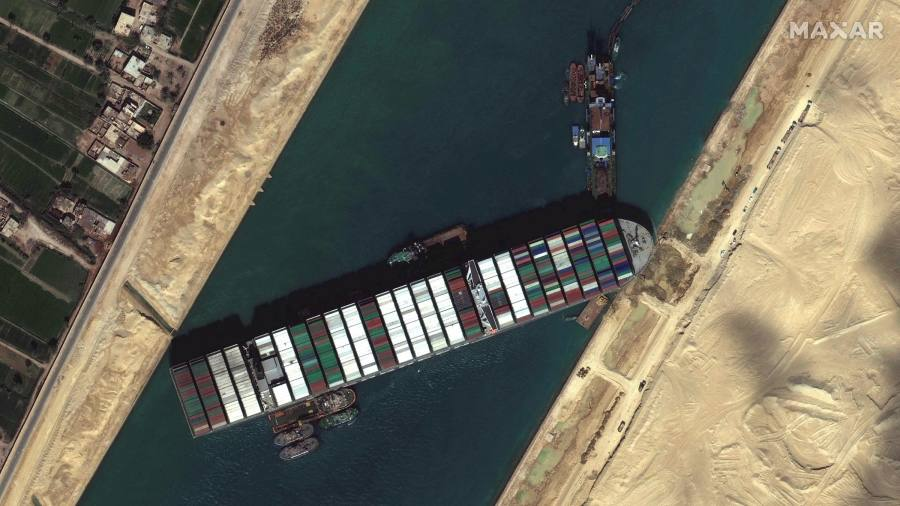 The head of the Suez Canal has warned that loaded containers will have to be unloaded