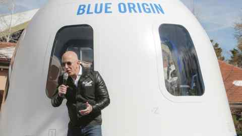 Ticket for space flight with Jeff Bezos auctions for m