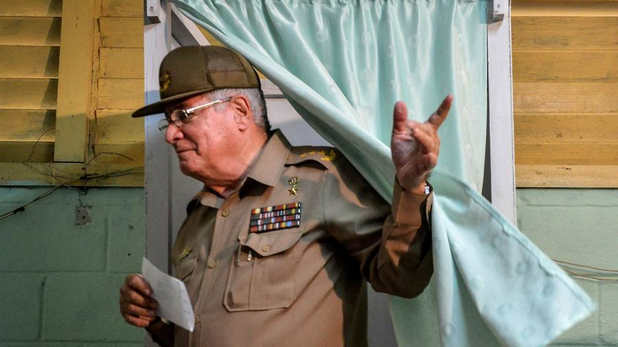 US places sanctions on head of Cuban military over protest crackdown