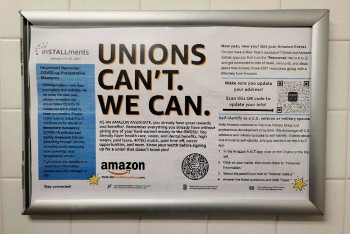Amazon must not interfere with US union effort, say investors