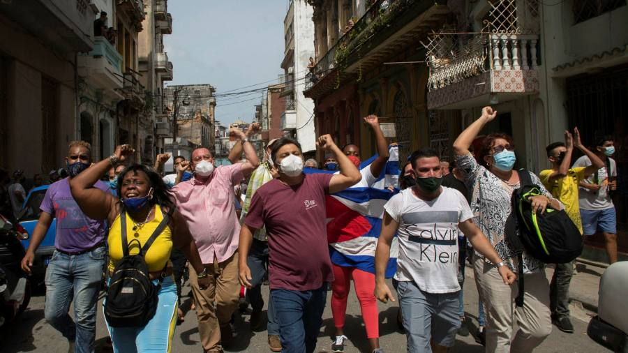 Widespread anti-government protests break out across Cuba