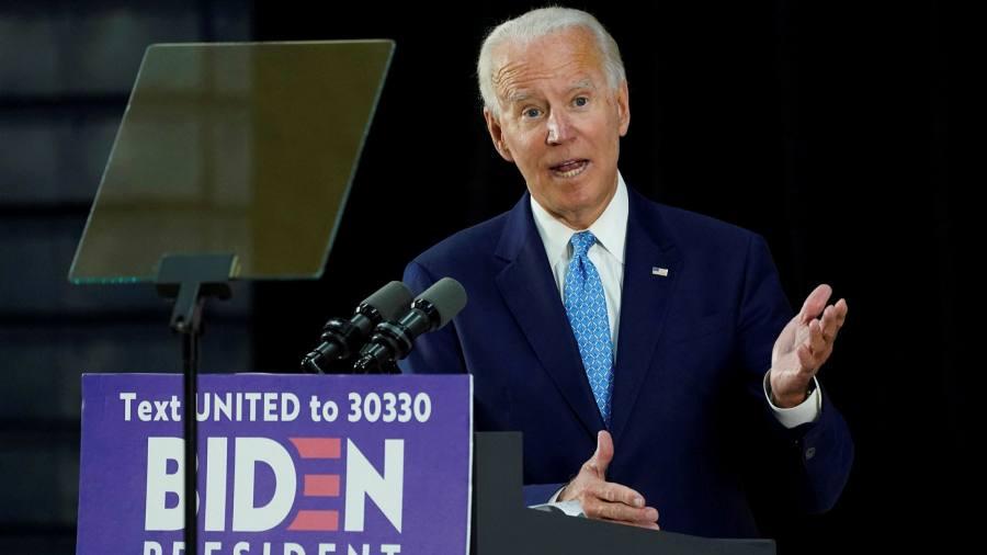 Biden denounces Trump's virus response as deficient and divisive