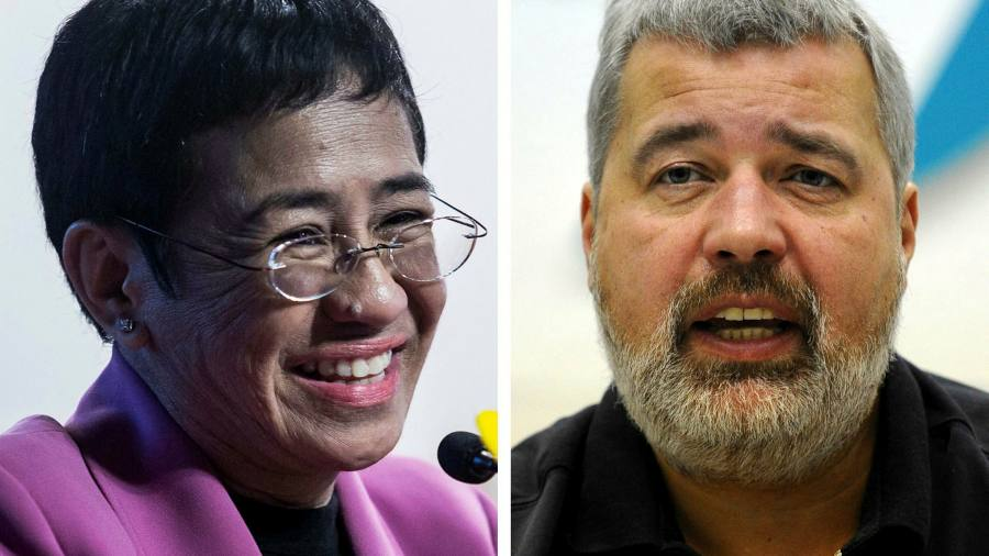 Nobel Peace Prize awarded to journalists Maria Ressa and Dmitry Muratov -  Insider Voice