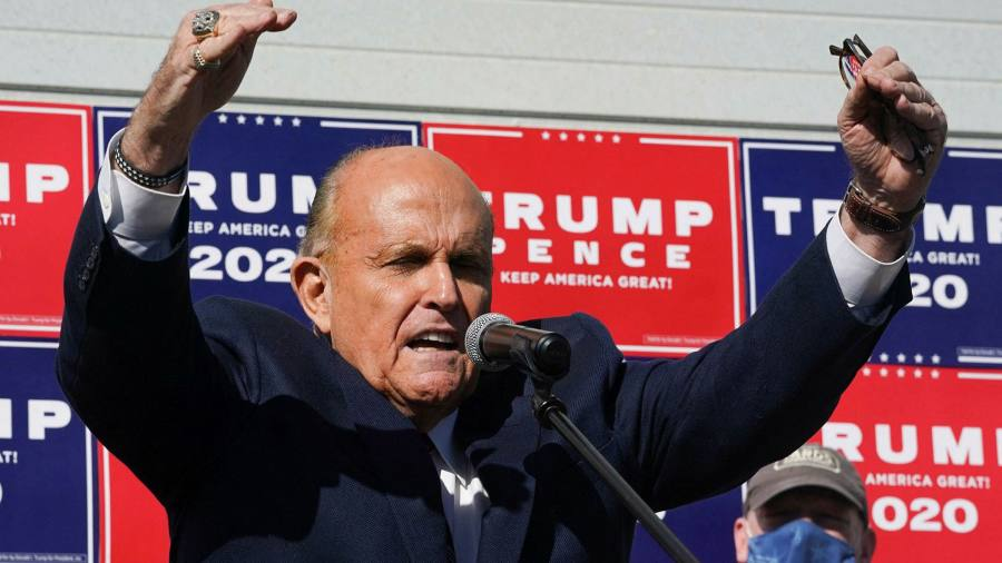 A New York court revoked Rudy Giuliani's legal license