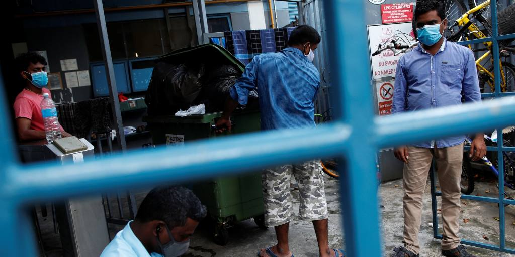 Singapore gets serious about social distancing migrant workers