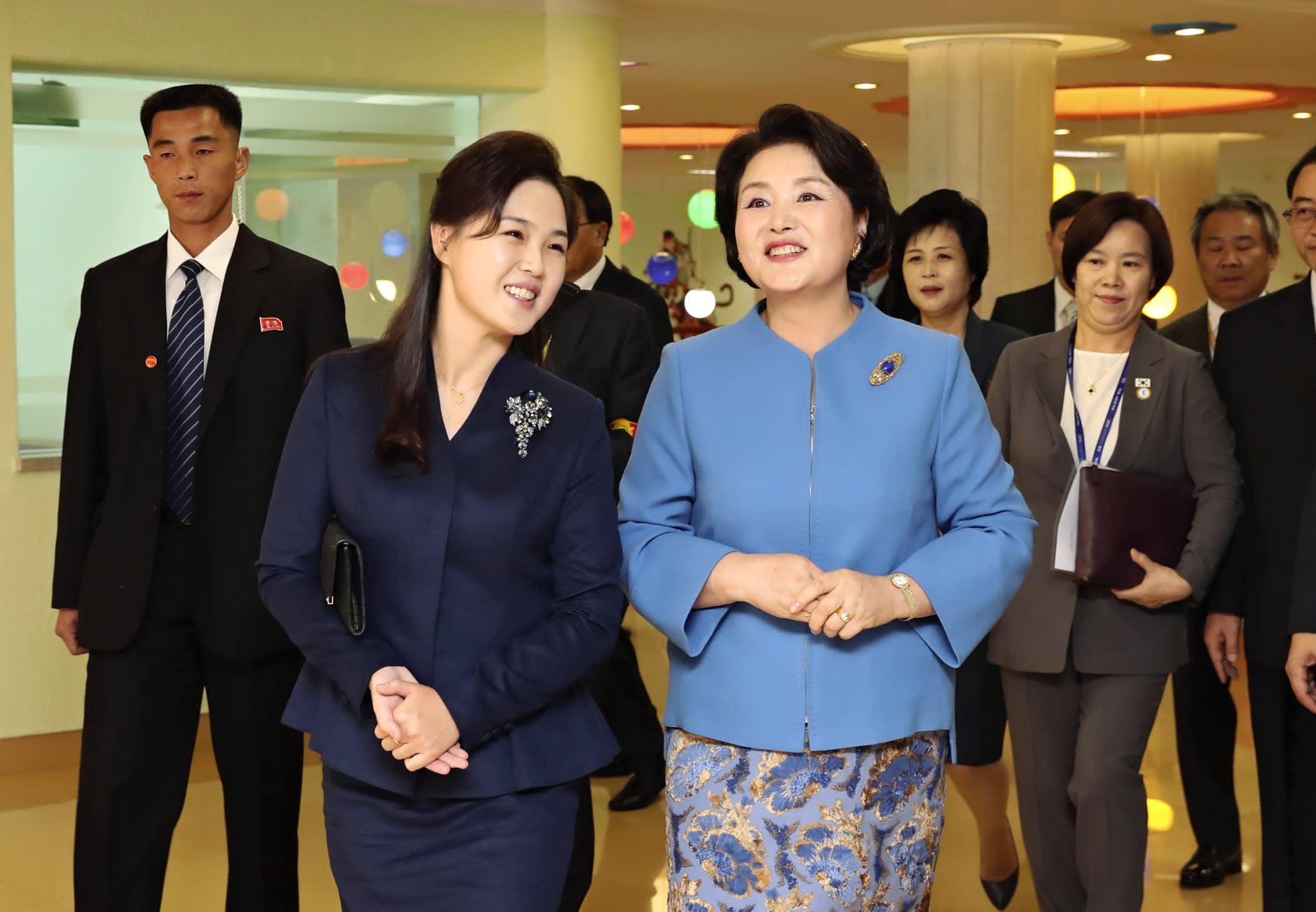 RI SOL JU BERSAMA FIRST LADY KOREA SELATAN