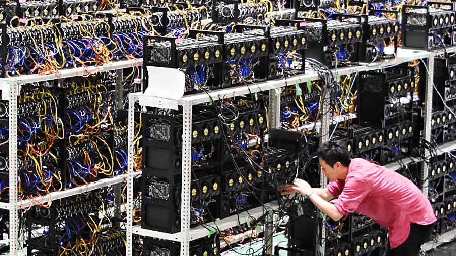 Mining cryptocurrency from peoples