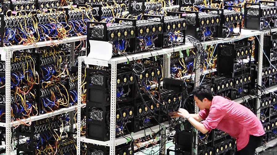 Crypto Mining-Gewinne nach unten