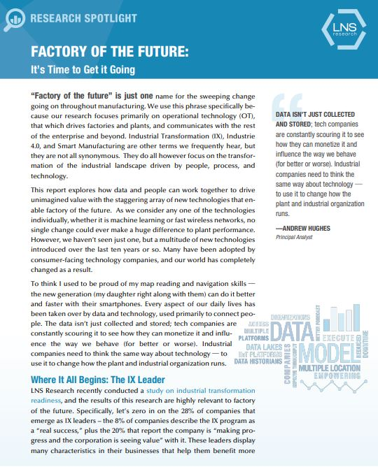 Factories of the future report